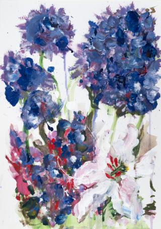 Purple Hydrangeas   Elizabeth Power artist