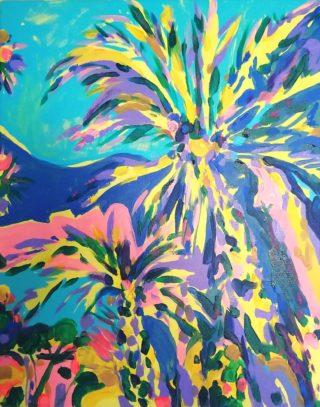 Palms in Nice | Elizabeth Power artist