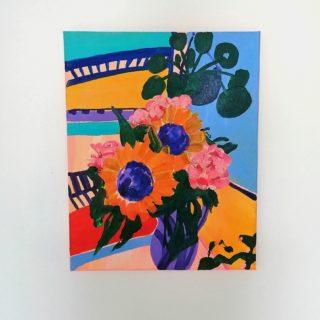 Sunflowers in the kitchen | Elizabeth Power artist