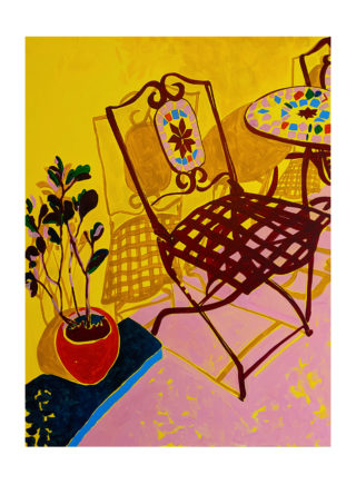Garden Chair In The Sun | Elizabeth Power artist